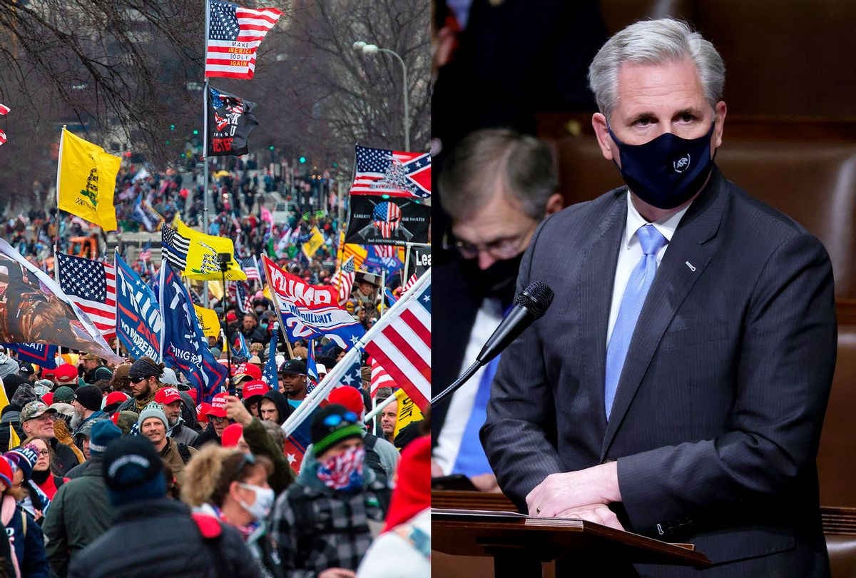 Capitol rioters | Kevin McCarthy (Photo illustration by Salon/Getty Images)