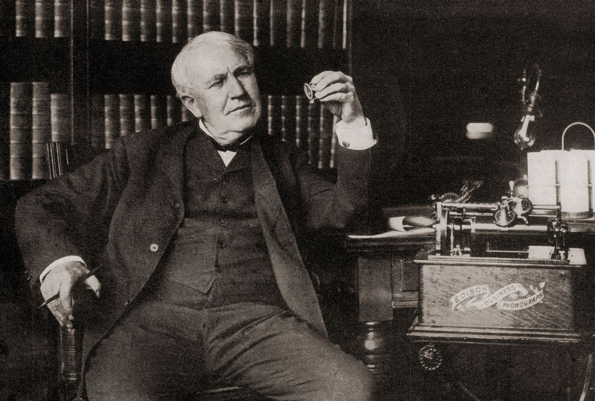 Thomas Alva Edison, 1847 – 1931. American inventor and businessman. (Universal History Archive/Universal Images Group via Getty Images)
