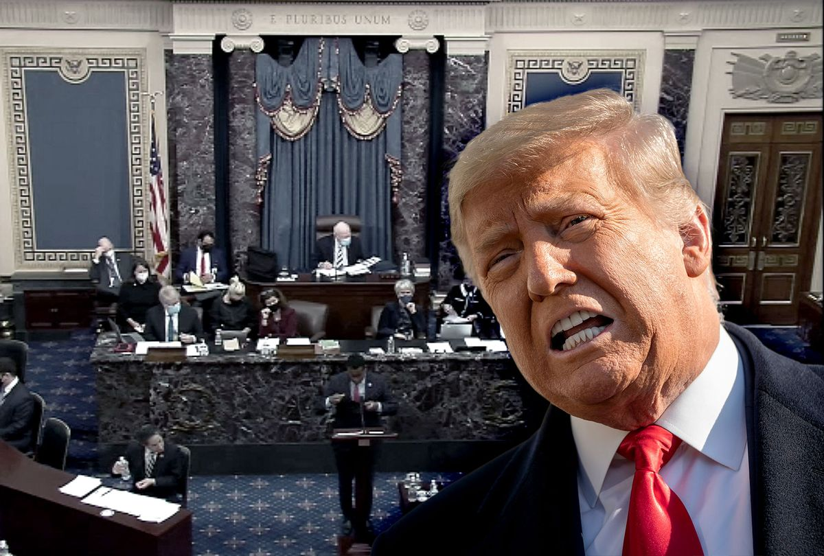 Donald Trump | Impeachment Trial in the Senate Chamber (Photo illustration by Salon/Getty Images)
