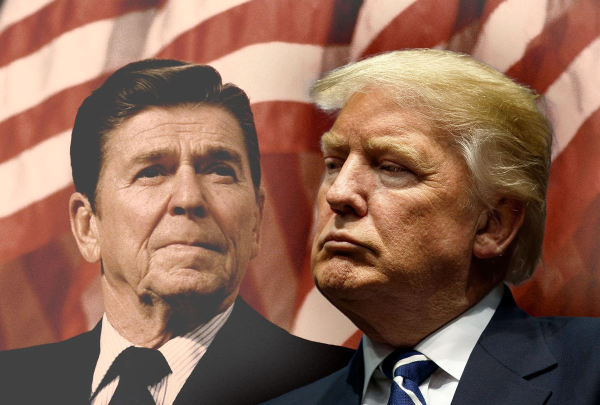 Ronald Reagan and Donald Trump (Photo illustration by Salon/Getty Images)