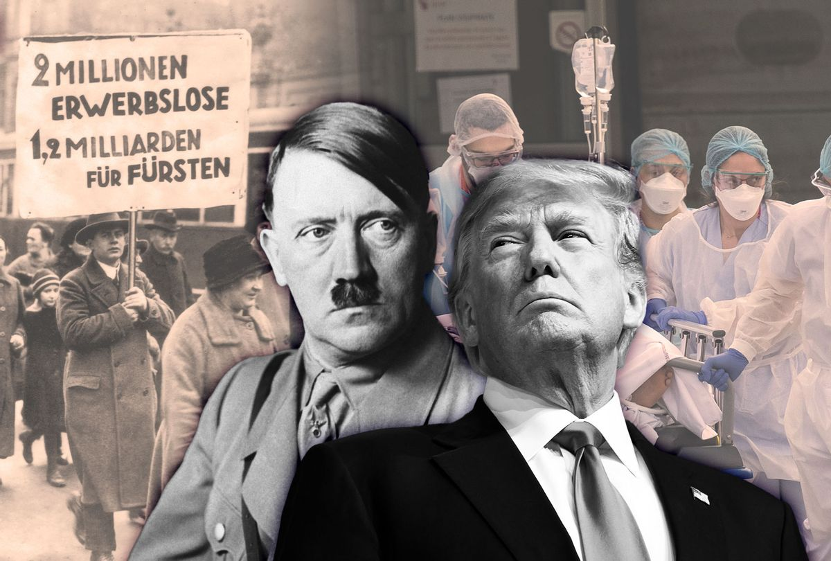 Donald Trump and Adolf Hitler (Photo illustration by Salon/Getty Images)