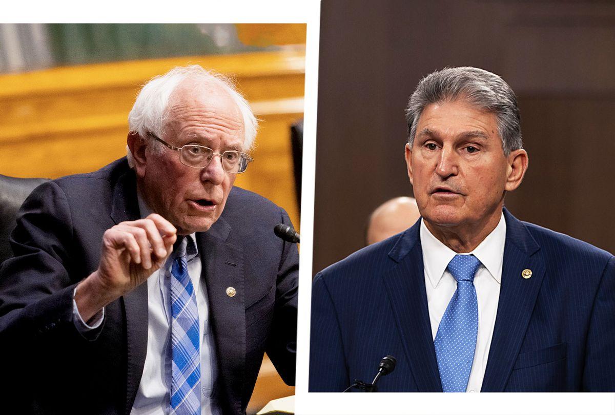 Bernie Sanders and Joe Manchin (Photo illustration by Salon/Getty Images)
