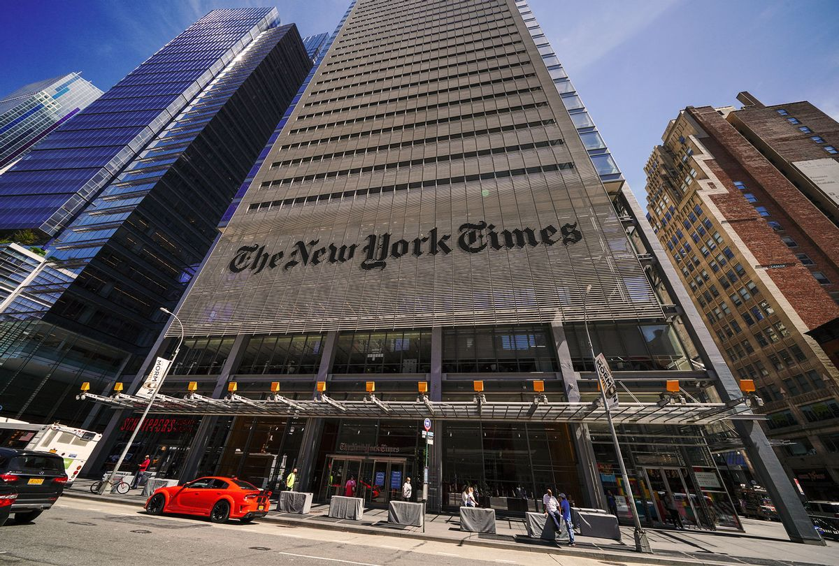A view of The New York Times Building Headquarters. (John Nacion/SOPA Images/LightRocket via Getty Images)