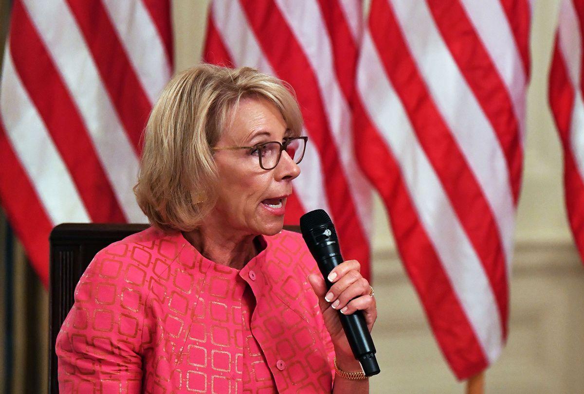 Betsy DeVos (NICHOLAS KAMM/AFP via Getty Images)