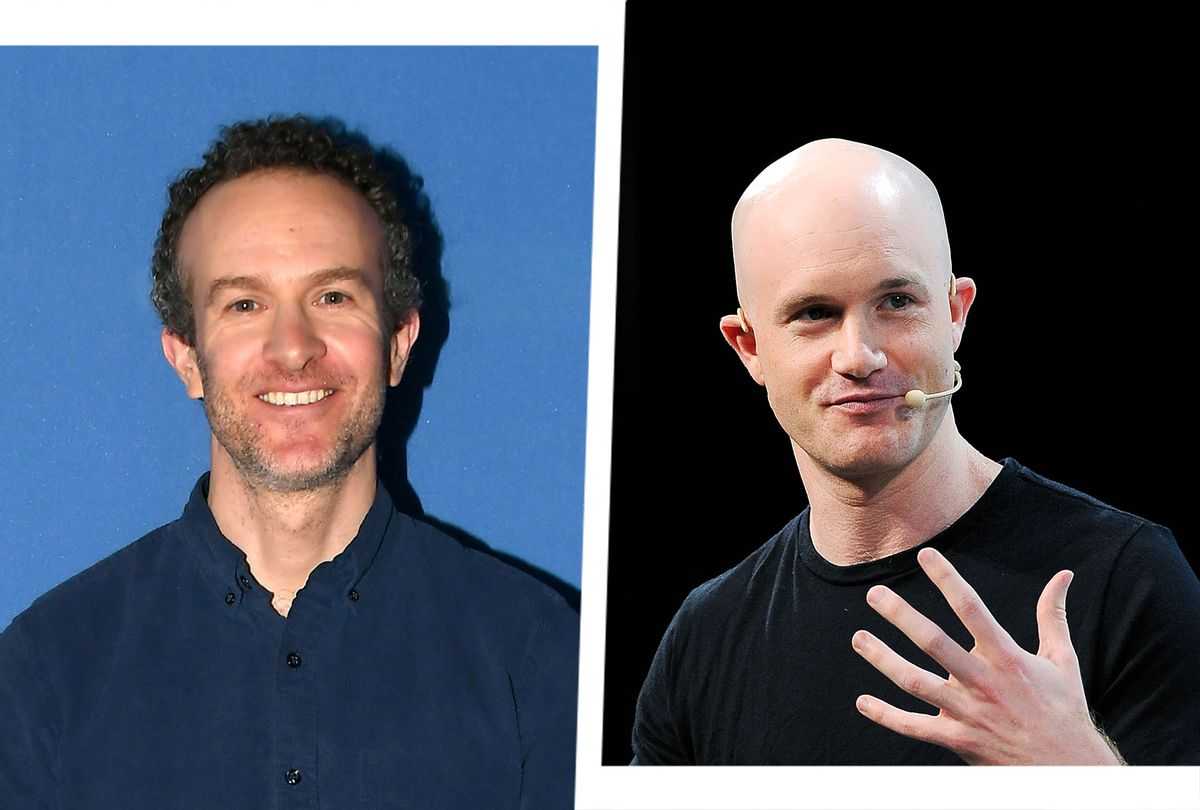 Co-Founder and CEO of Basecamp Jason Fried and Co-founder and CEO of Coinbase Brian Armstrong (Photo illustration by Salon/Getty Images)