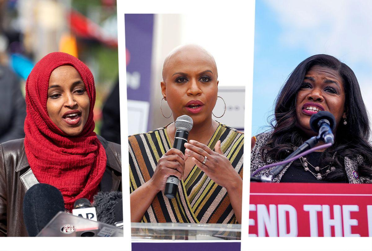 Ilhan Omar, Ayanna Pressley and Cori Bush (Photo illustration by Salon/Getty Images)