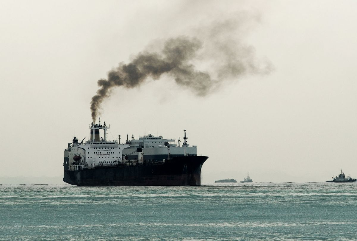 Ship with thick black sooty exhaust (Getty Images)