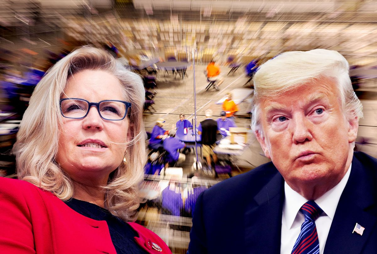 Liz Cheney and Donald Trump | The Maricopa County audit (Photo illustration by Salon/Getty Images)