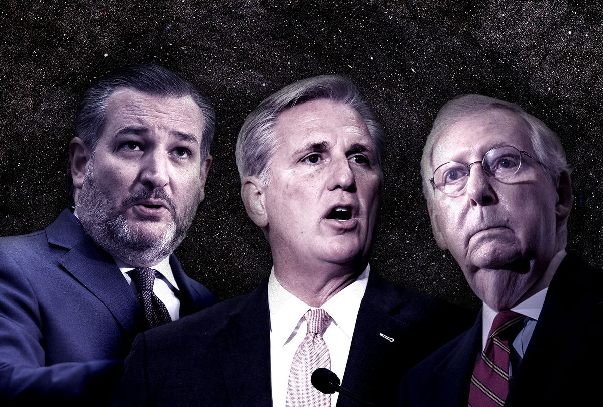 Ted Cruz, Kevin McCarthy and Mitch McConnell (Photo illustration by Salon/Getty Images)