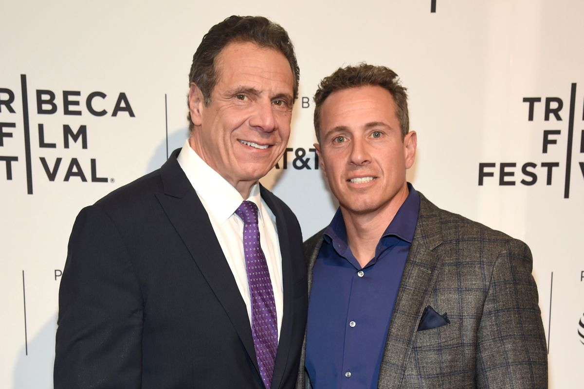 New York Gov. Andrew Cuomo, left, and his brother, the CNN anchor Chris Cuomo (Getty Images)
