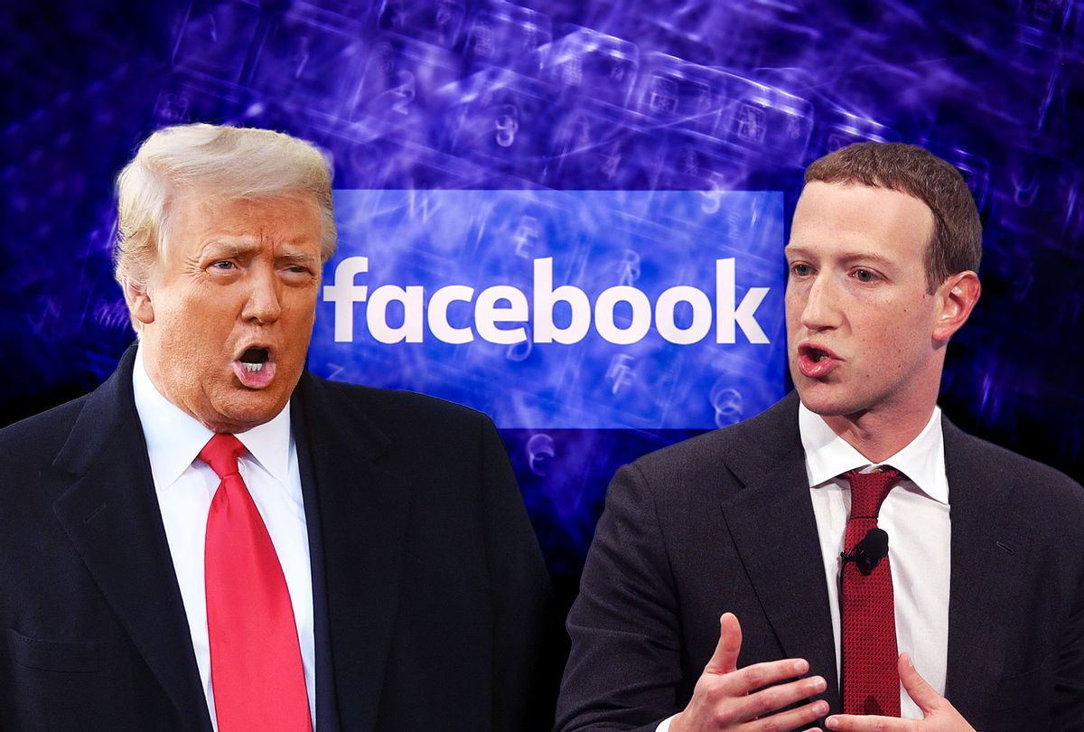 Donald Trump and Mark Zuckerberg (Photo illustration by Salon/Getty Images)