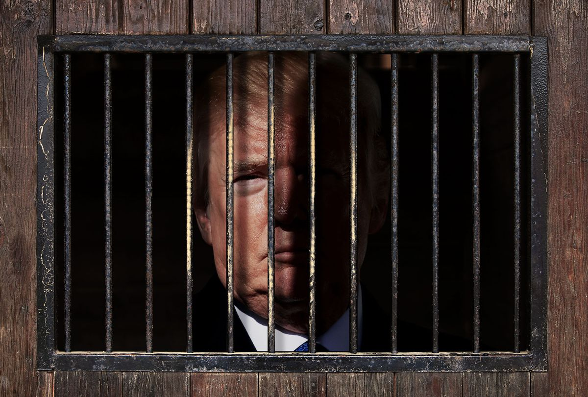 Donald Trump, behind bars (Photo illustration by Salon/Getty Images)