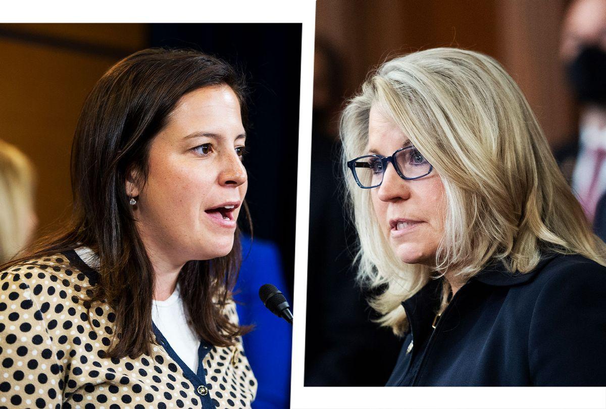 Elise Stefanik and Liz Cheney (Photo illustration by Salon/Getty Images)
