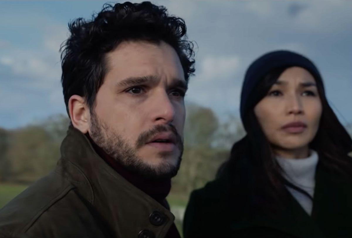 "Kit Harington and Gemma Chan in ""Eternals"" (Marvel Studios)"
