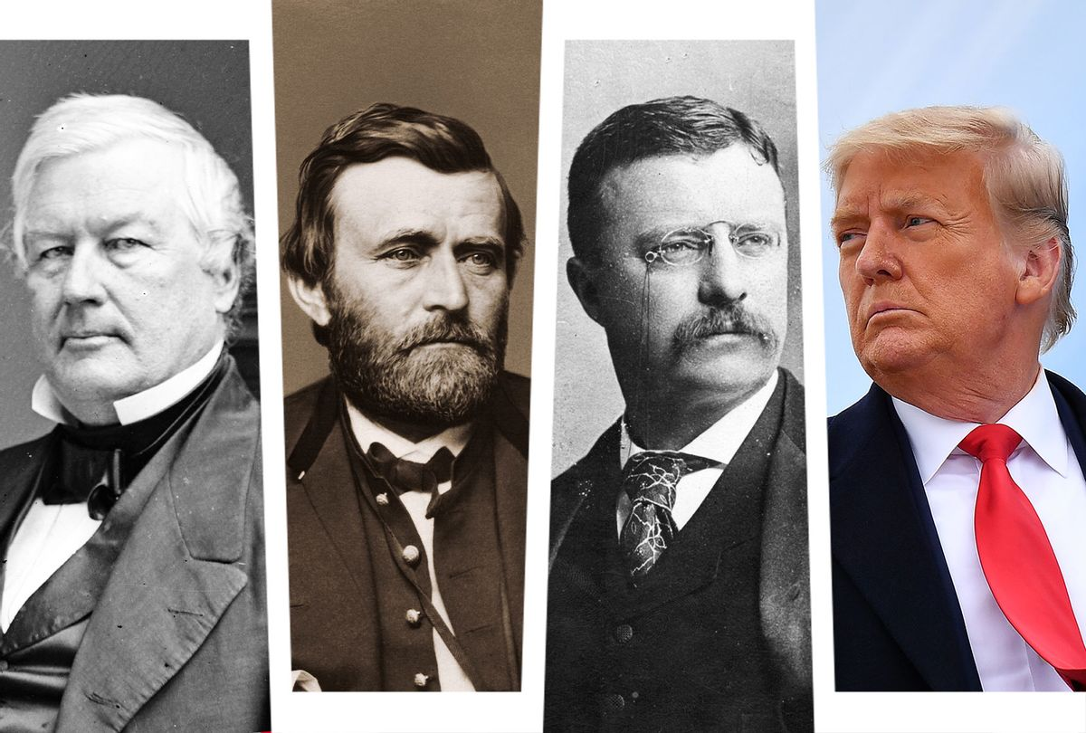 Millard Fillmore, Ulysses S. Grant, Teddy Roosevelt and Donald Trump (Photo illustration by Salon/Getty Images)