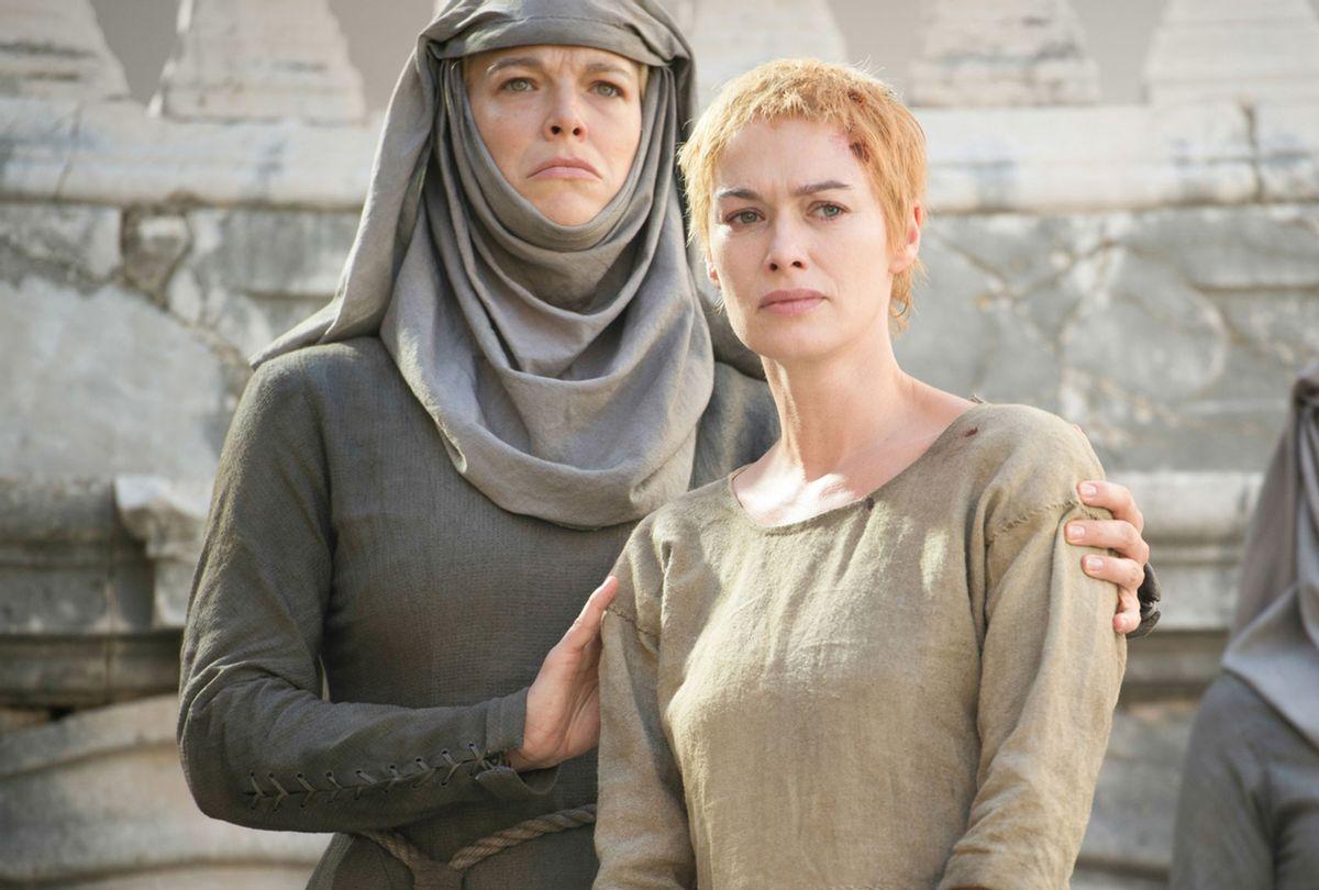 "Hannah Waddingham and Lena Headey on ""Game Of Thrones"" (HBO/Macall B. Polay)"