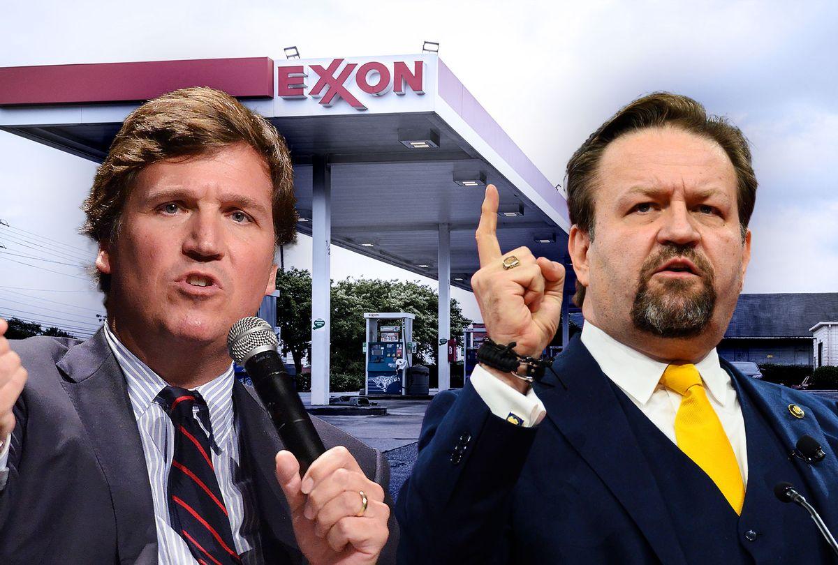 Tucker Carlson and Sebastian Gorka (Photo illustration by Salon/Getty Images)