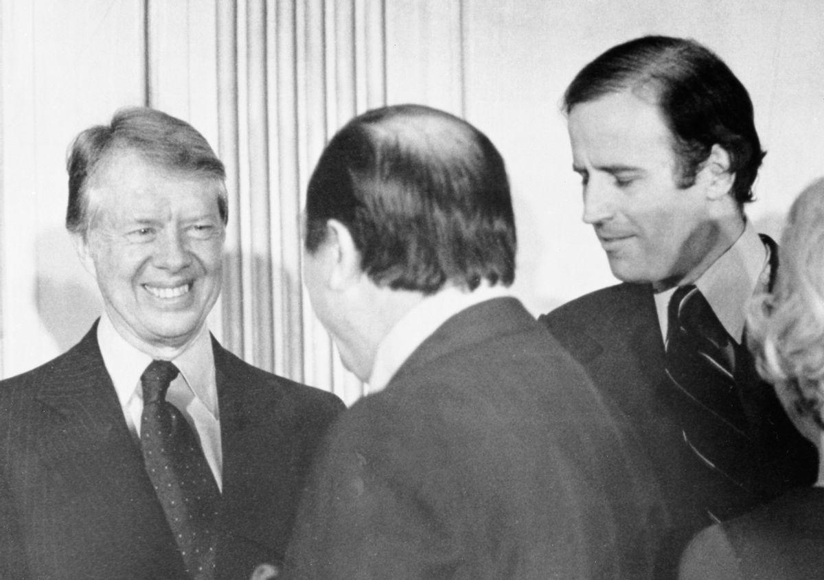 President Jimmy Carter and Sen. Joe Biden in the 1970s. (Bettmann Archive/Getty Images)