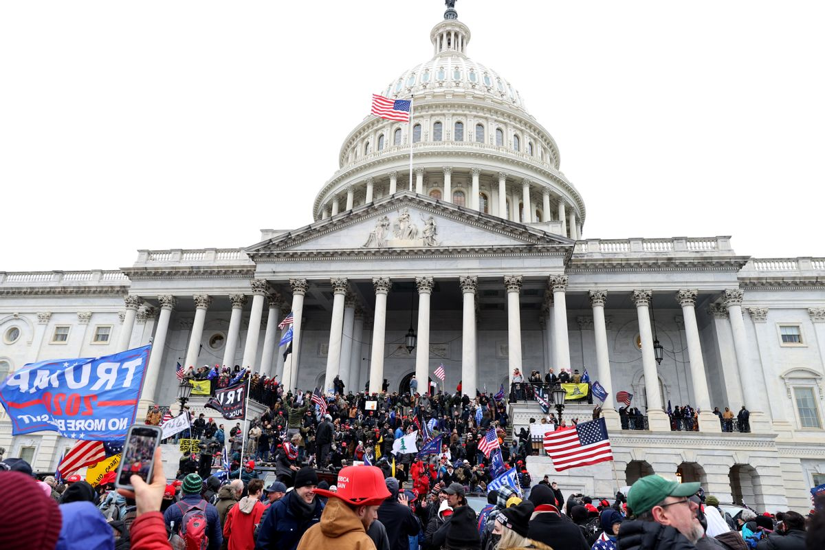 Protesters gather at the U.S. Capitol Building on Jan. 06, 2021. (Getty Images)