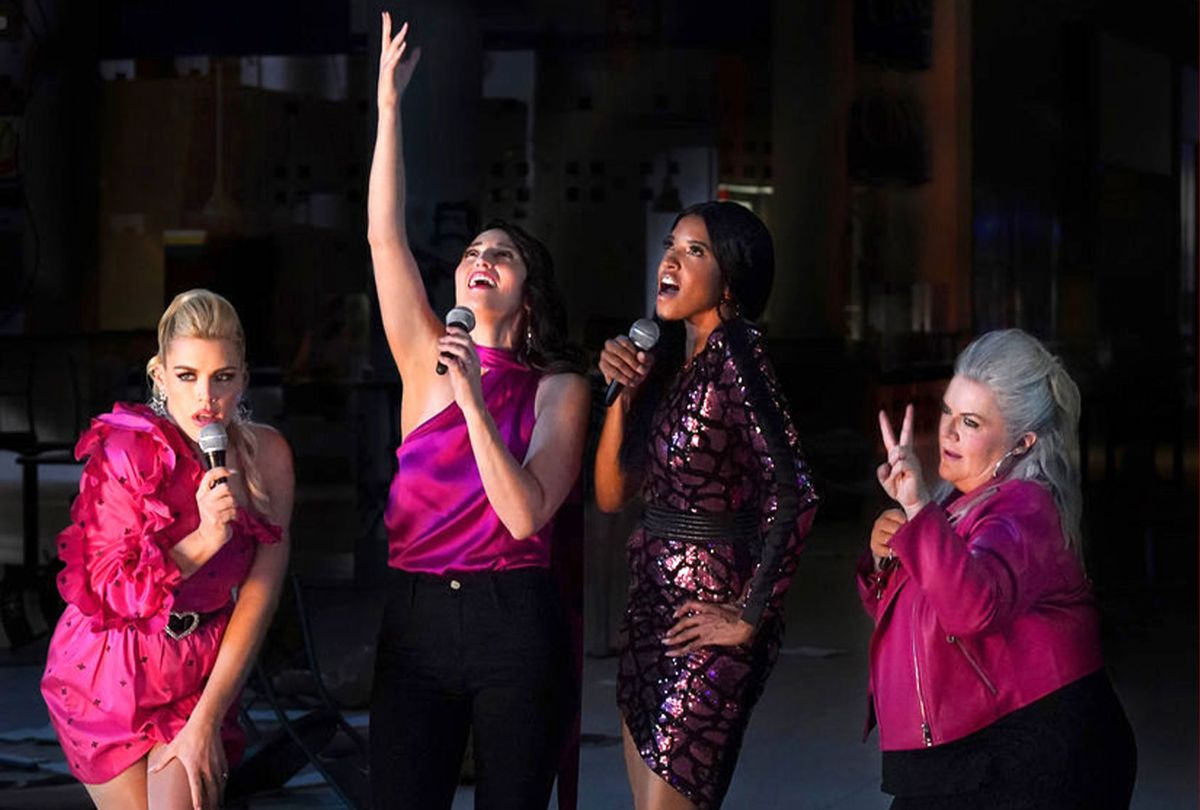 "Busy Philipps, Sara Bareilles, Renée Elise Goldsberry and Paula Pell in ""Girls5Eva"" (Heidi Gutman/Peacock)"