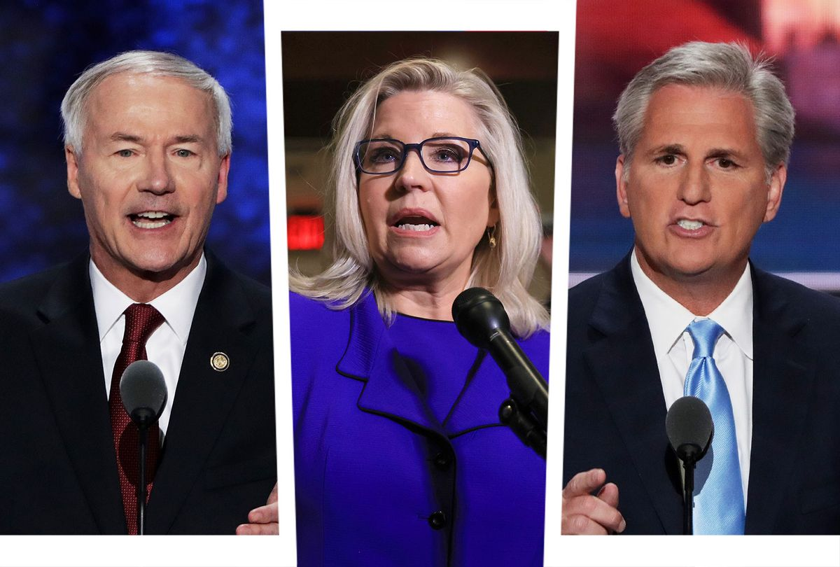 Asa Hutchinson, Liz Cheney and Kevin McCarthy (Photo illustration by Salon/Getty Images)