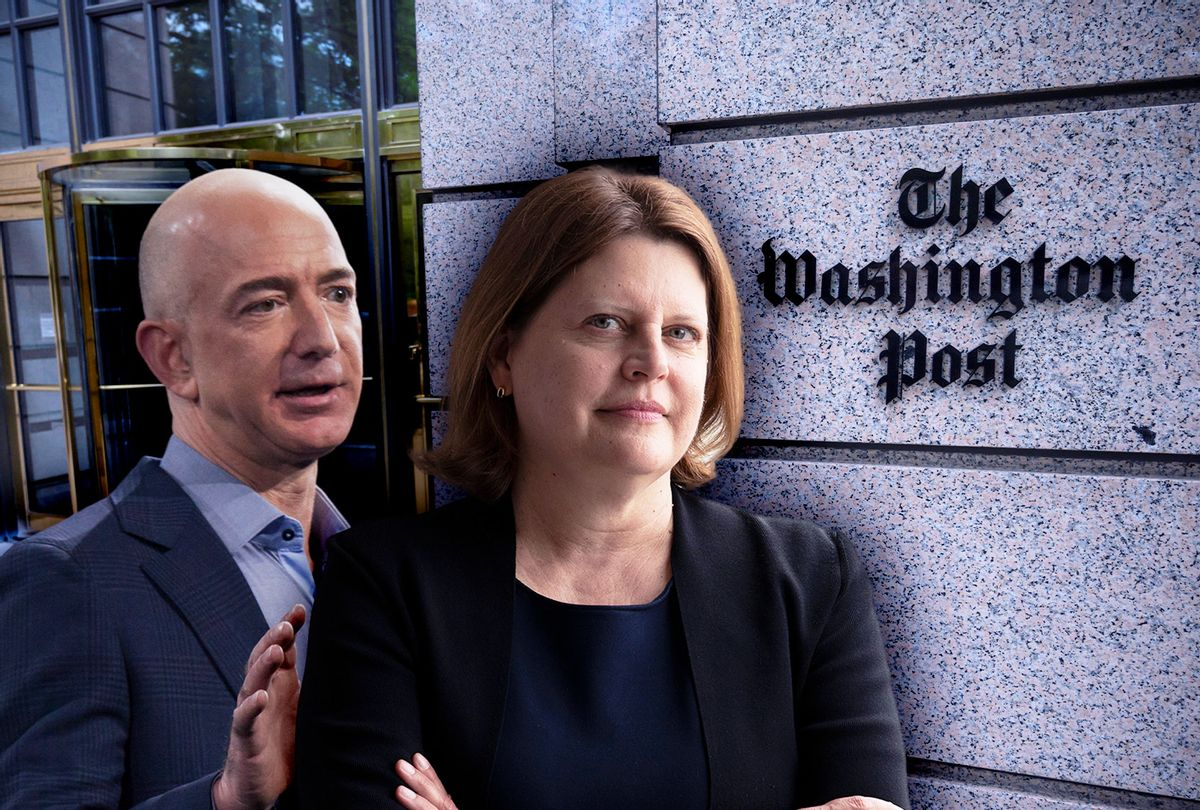 Jeff Bezos and Sally Buzbee (Photo illustration by Salon/Getty Images)