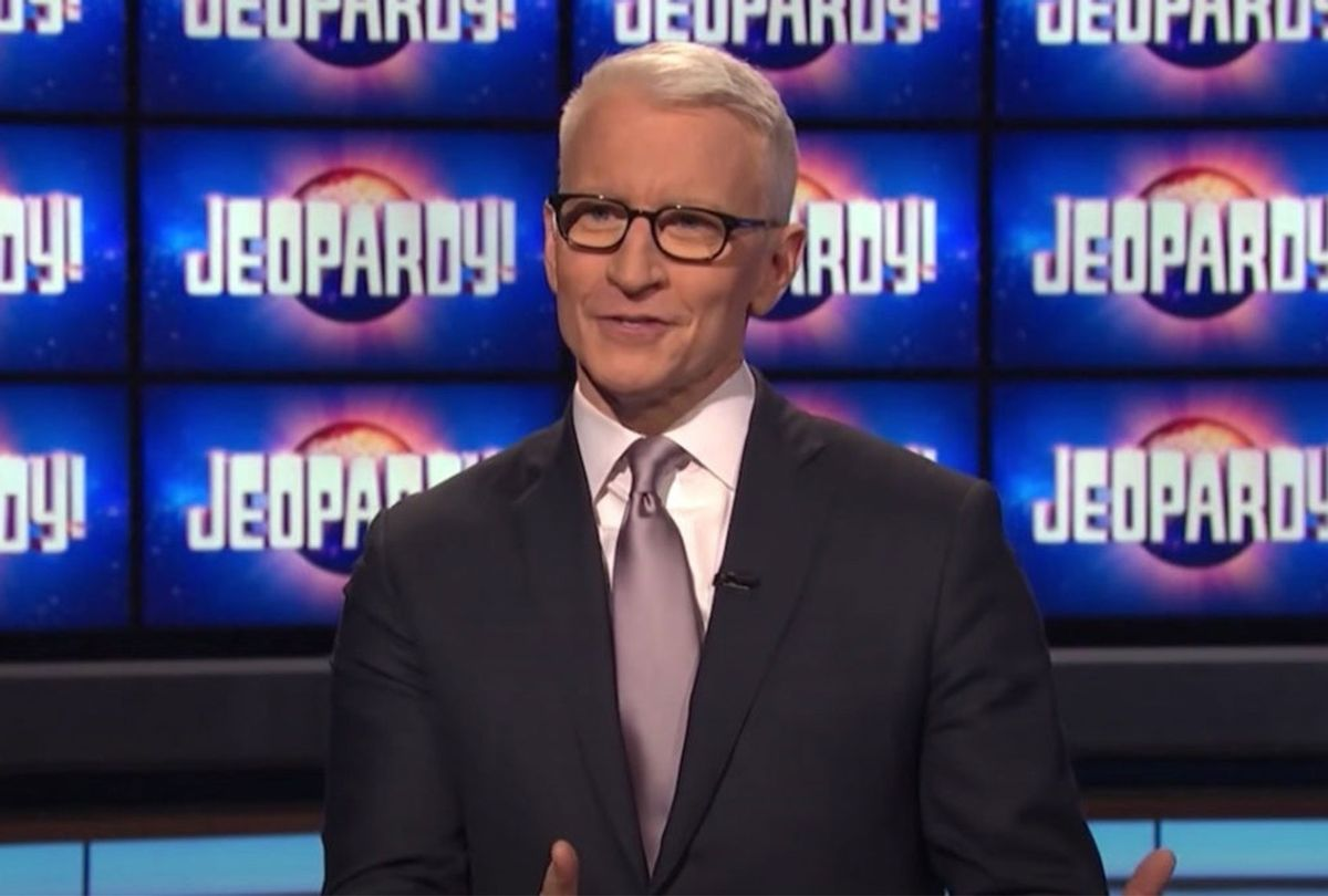 """Anderson Cooper on """"Jeopardy!"""" (Jeopardy Productions)"""