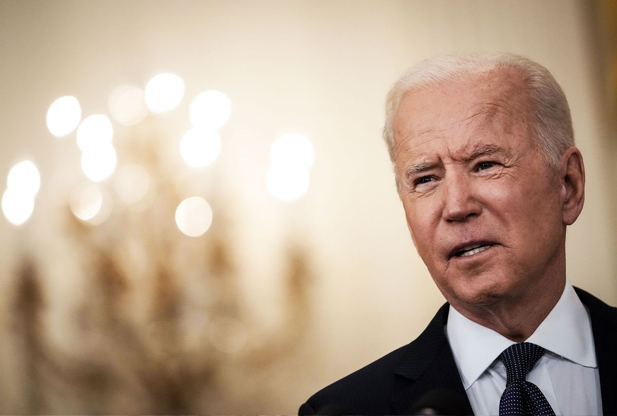 U.S. President Joe Biden delivers remarks on the economy in the East Room of the White House on May 10, 2021 in Washington, DC. Biden addressed criticism from Republicans after a weaker than expected April jobs report. (Drew Angerer/Getty Images)