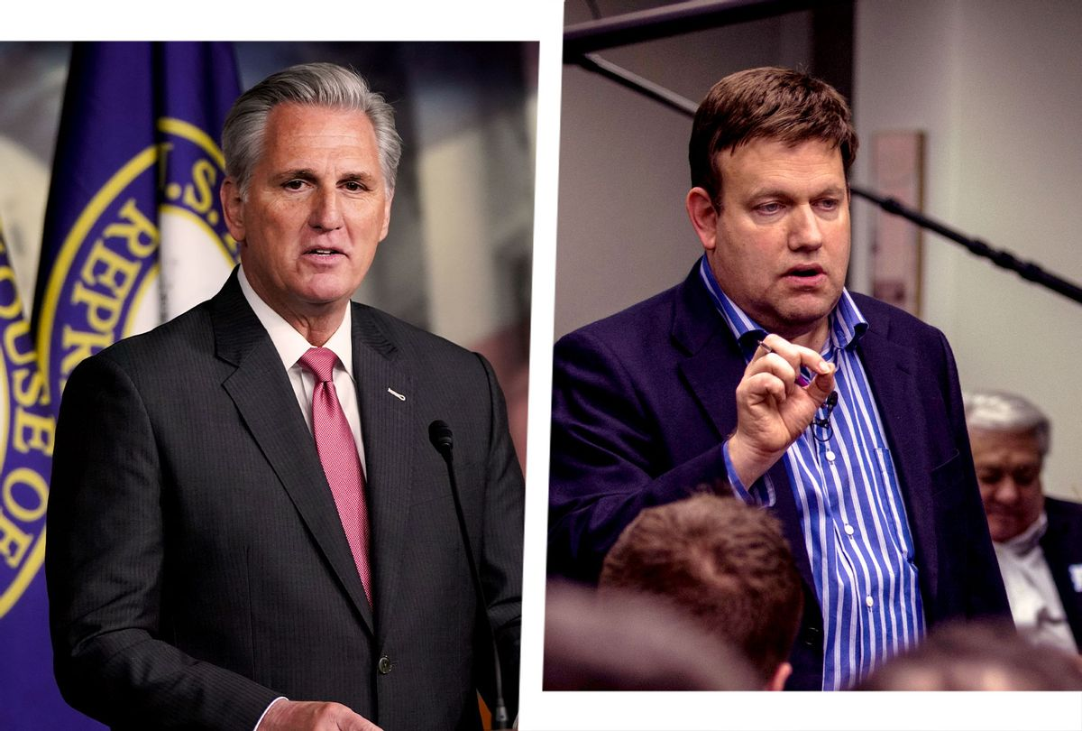 Kevin McCarthy and Frank Luntz (Photo illustration by Salon/Getty Images)