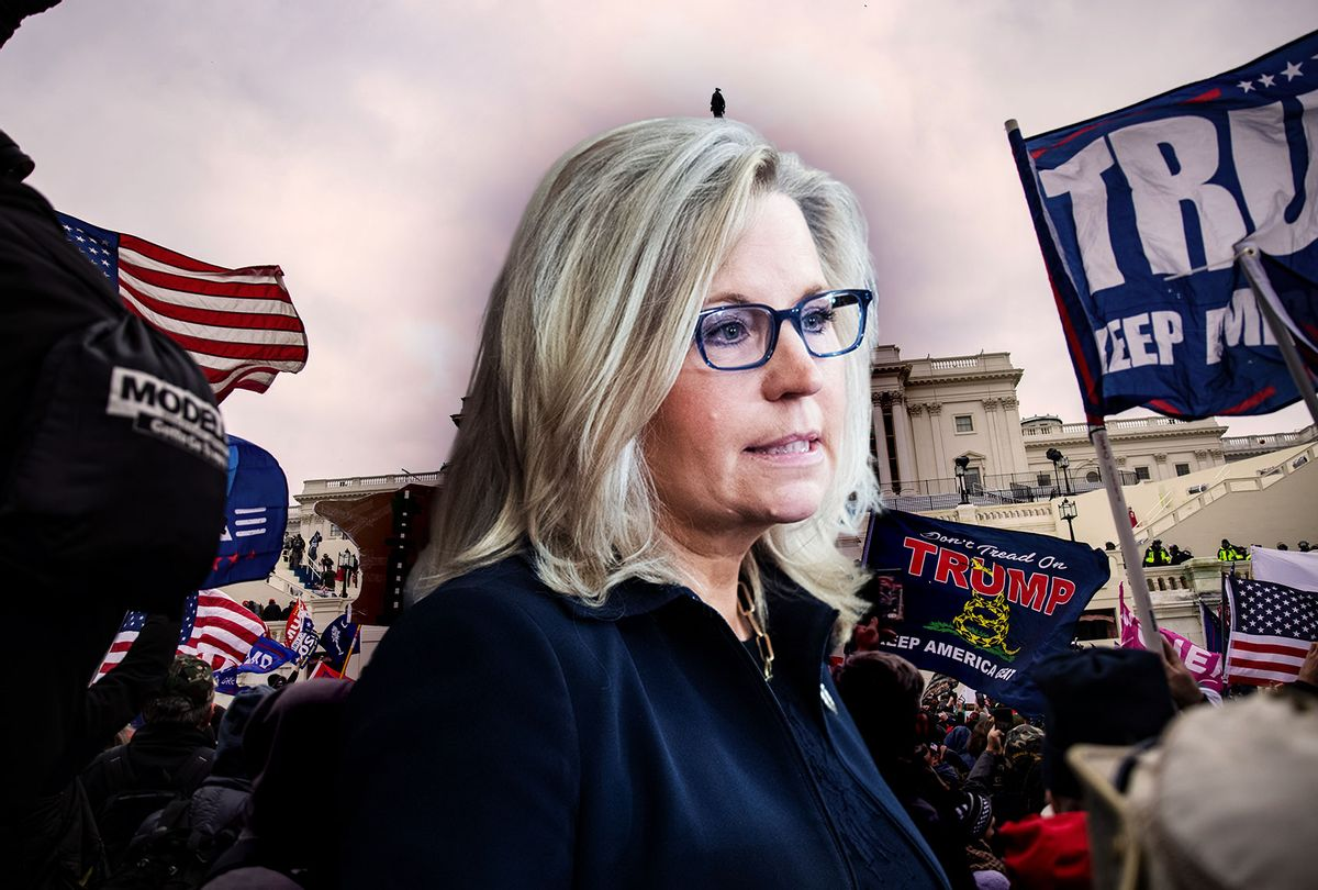 Liz Cheney | January 6th riot at the US Capitol (Photo illustration by Salon/Getty Images)