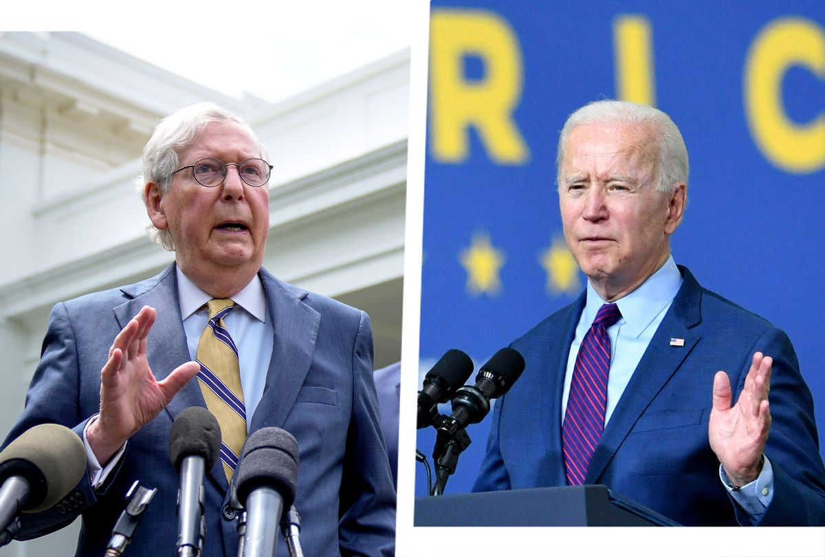Mitch McConnell and Joe Biden (Photo illustration by Salon/Getty images)