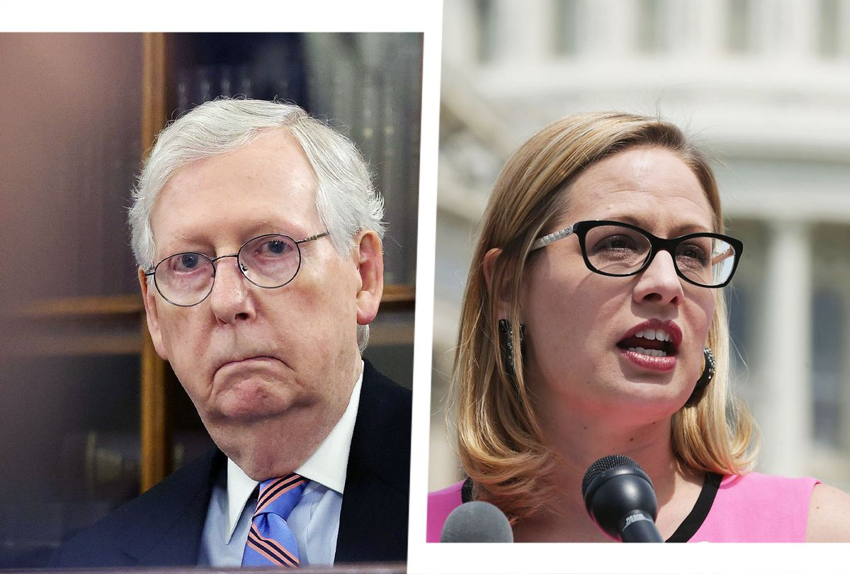 Mitch McConnell and Kyrsten Sinema (Photo illustration by Salon/Getty Images)