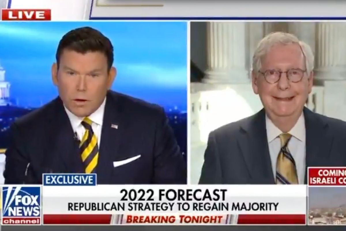 Sen. Mitch McConnell during an interview with Fox News' Bret Baier. (FOX News)