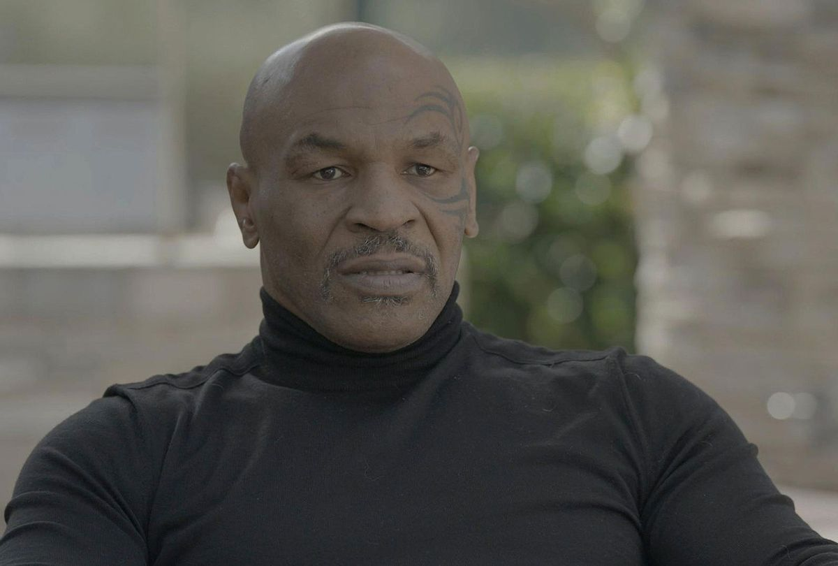 """Byron Pitts interviews Mike Tyson for the ABC News documentary series """"Mike Tyson: The Knockout,"""" detailing the life of the boxing legend. (ABC)"""