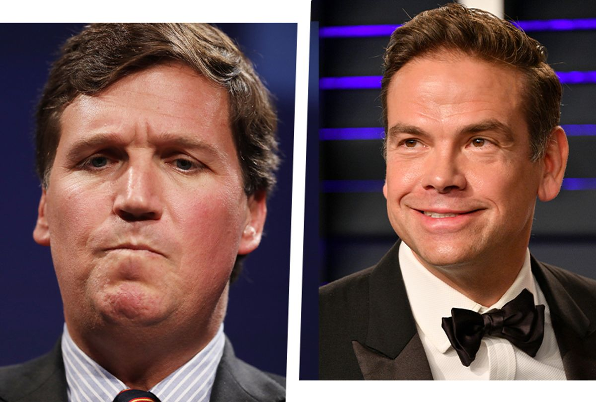 Fox News host Tucker Carlson, left, and Fox Corp. CEO Lachlan Murdoch (Getty Images)