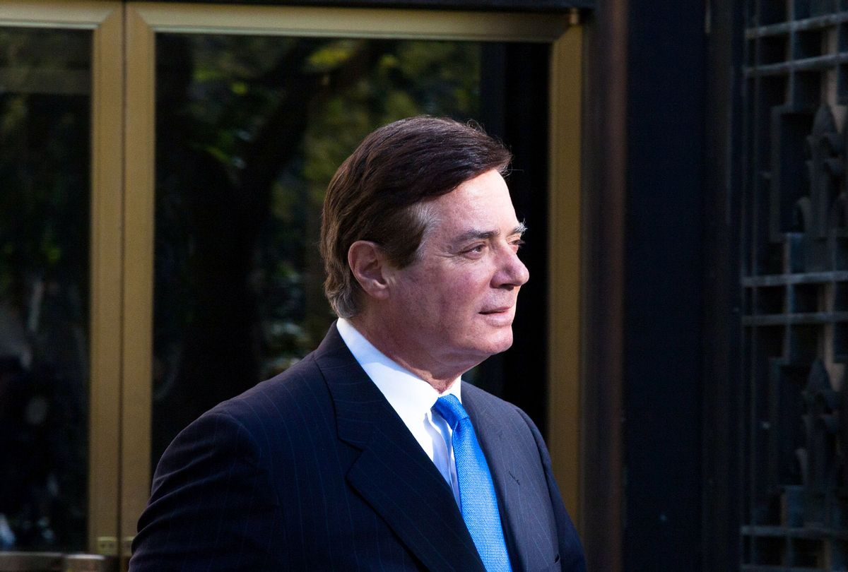 Former Trump campaign chairman Paul Manafort leaves federal court, October 30, 2017 in Washington, DC. Paul Manafort and Rick Gates, have been indicted by a federal grand jury in the investigation into Russian meddling in the U.S. election. (Keith Lane/Getty Images)