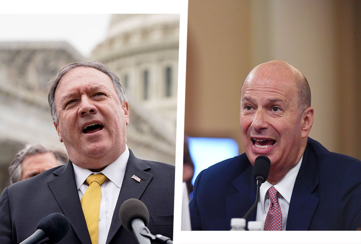 Mike Pompeo and Gordon Sondland (Photo illustration by Salon/Getty Images)