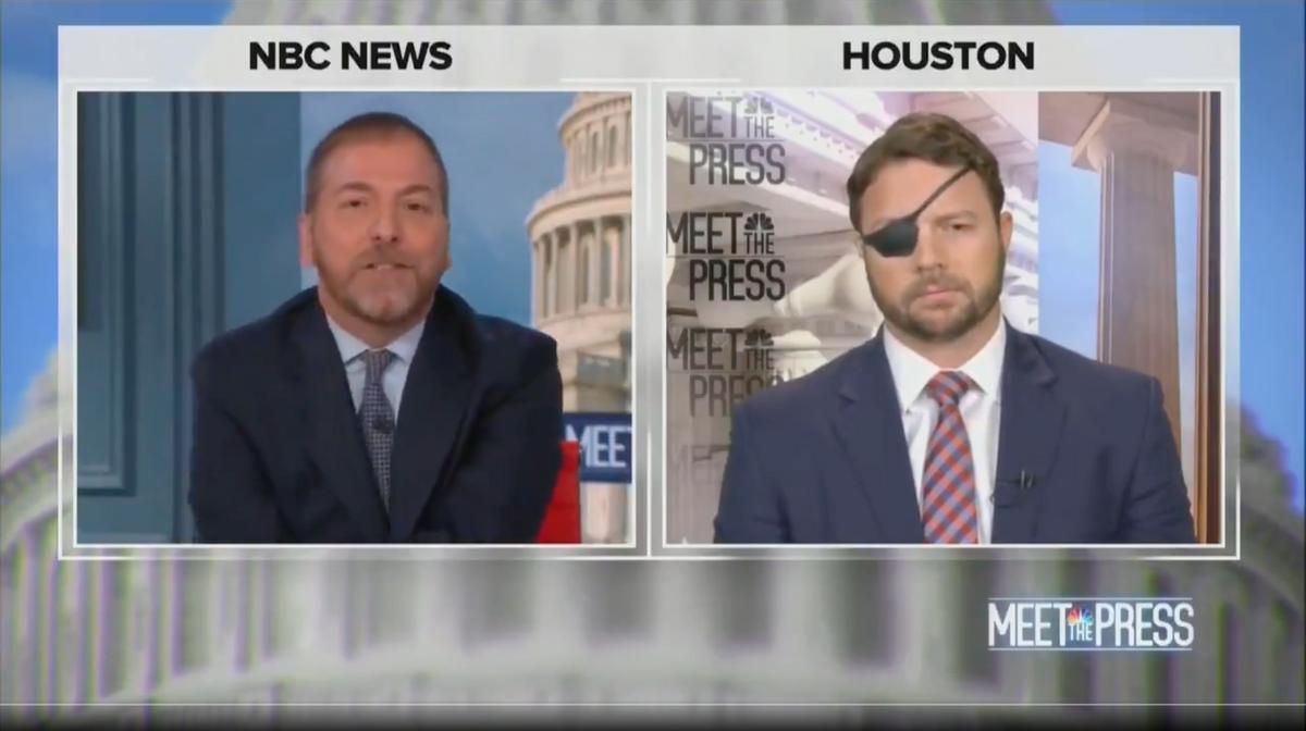 "Rep. Dan Crenshaw, R-Texas, on NBC's ""Meet the Press"" with Chuck Todd (NBC)"