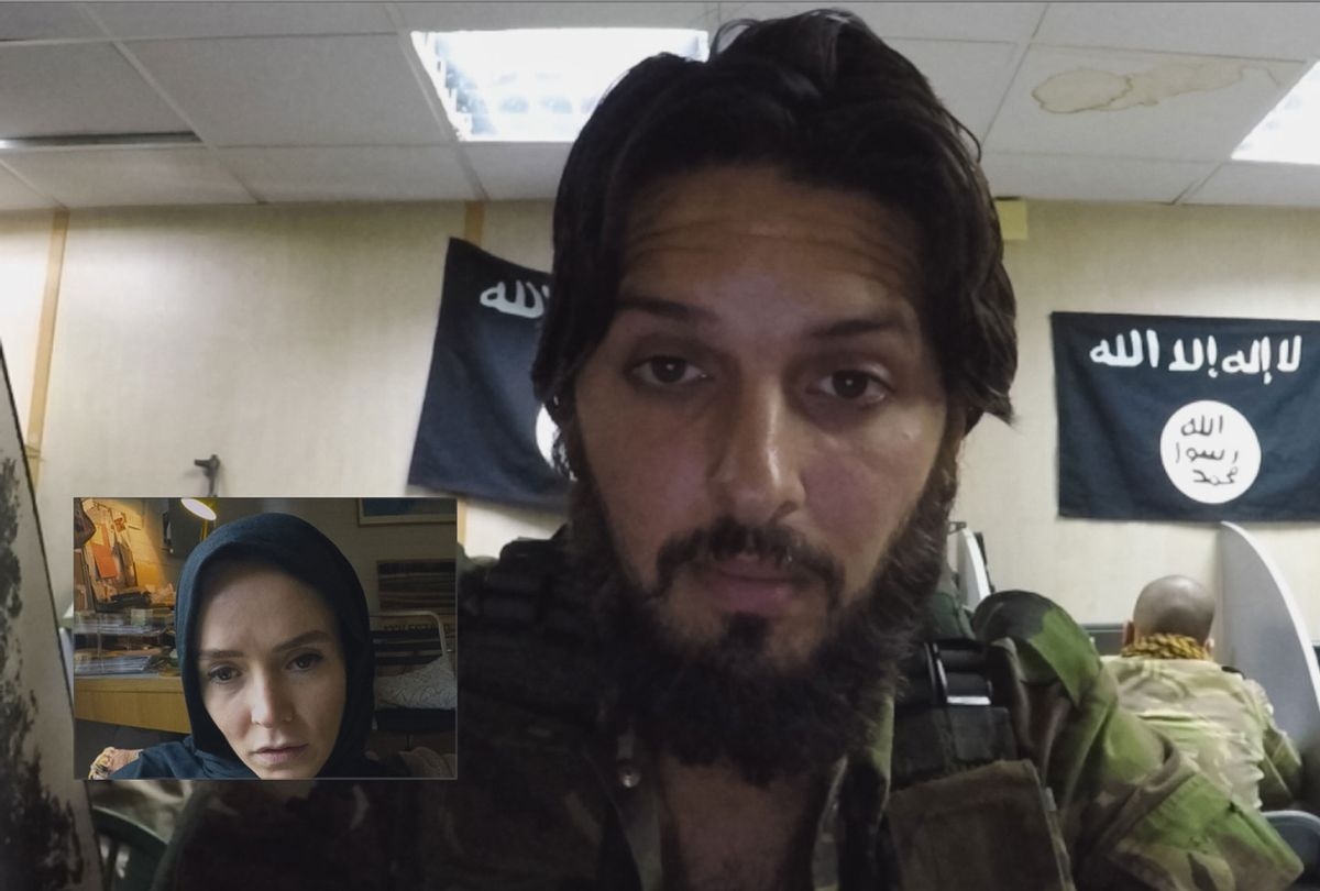 "Valene Kane and Shazad Latif in ""Profile"" (BEZELEVS/Focus Features)"