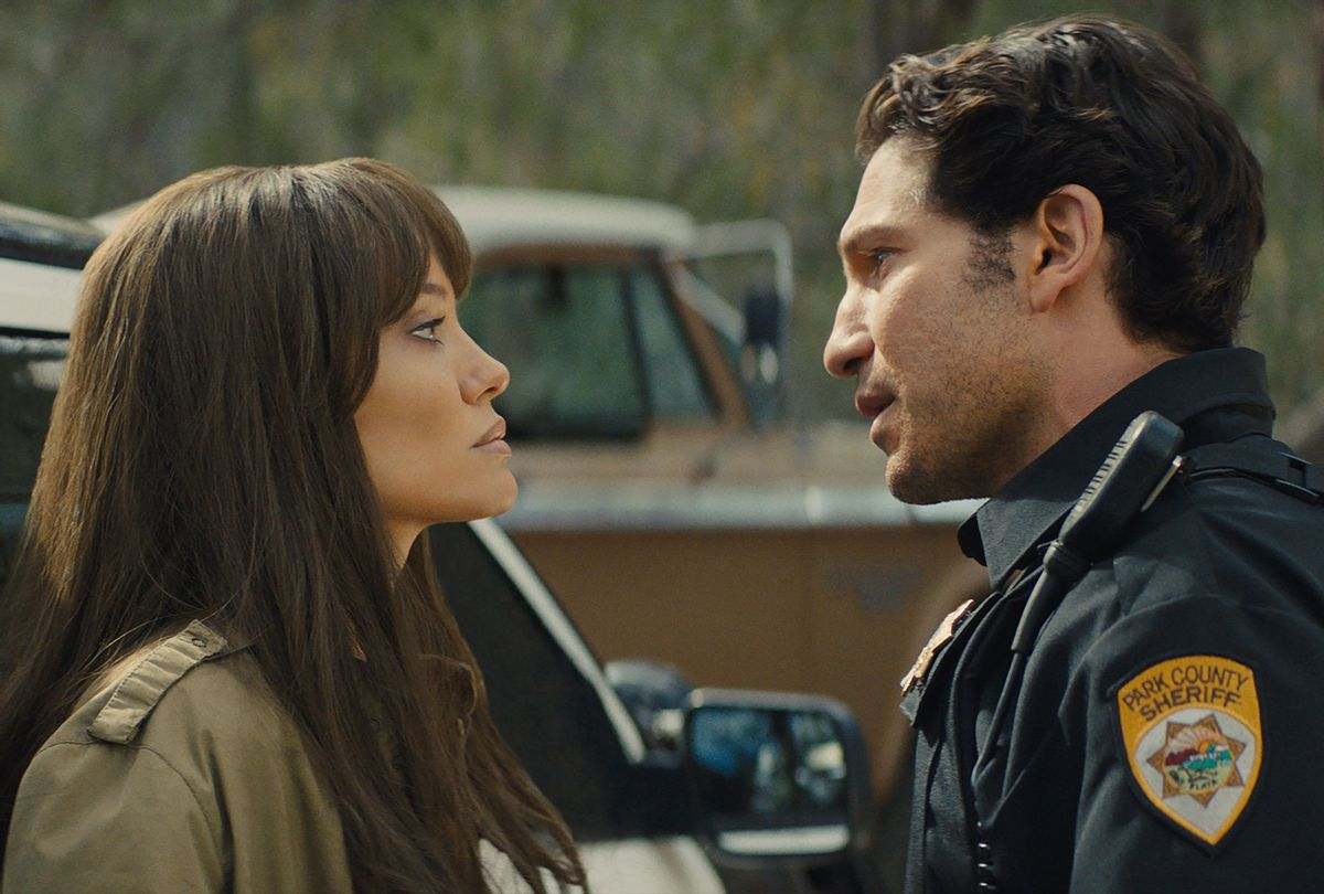 """Angelina Jolie and Jon Bernthal in """"Those Who Wish Me Dead"""" (Warner Bros. Pictures)"""