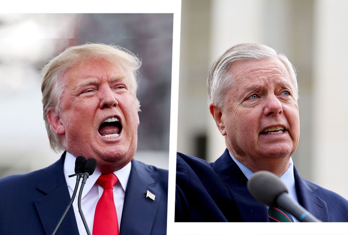 Donald Trump and Lindsey Graham (Photo illustration by Salon/Getty Images)