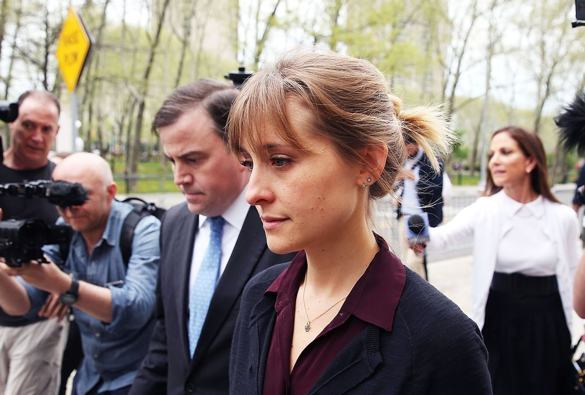 Actress Allison Mack departs the United States Eastern District Court (Jemal Countess/Getty Images)