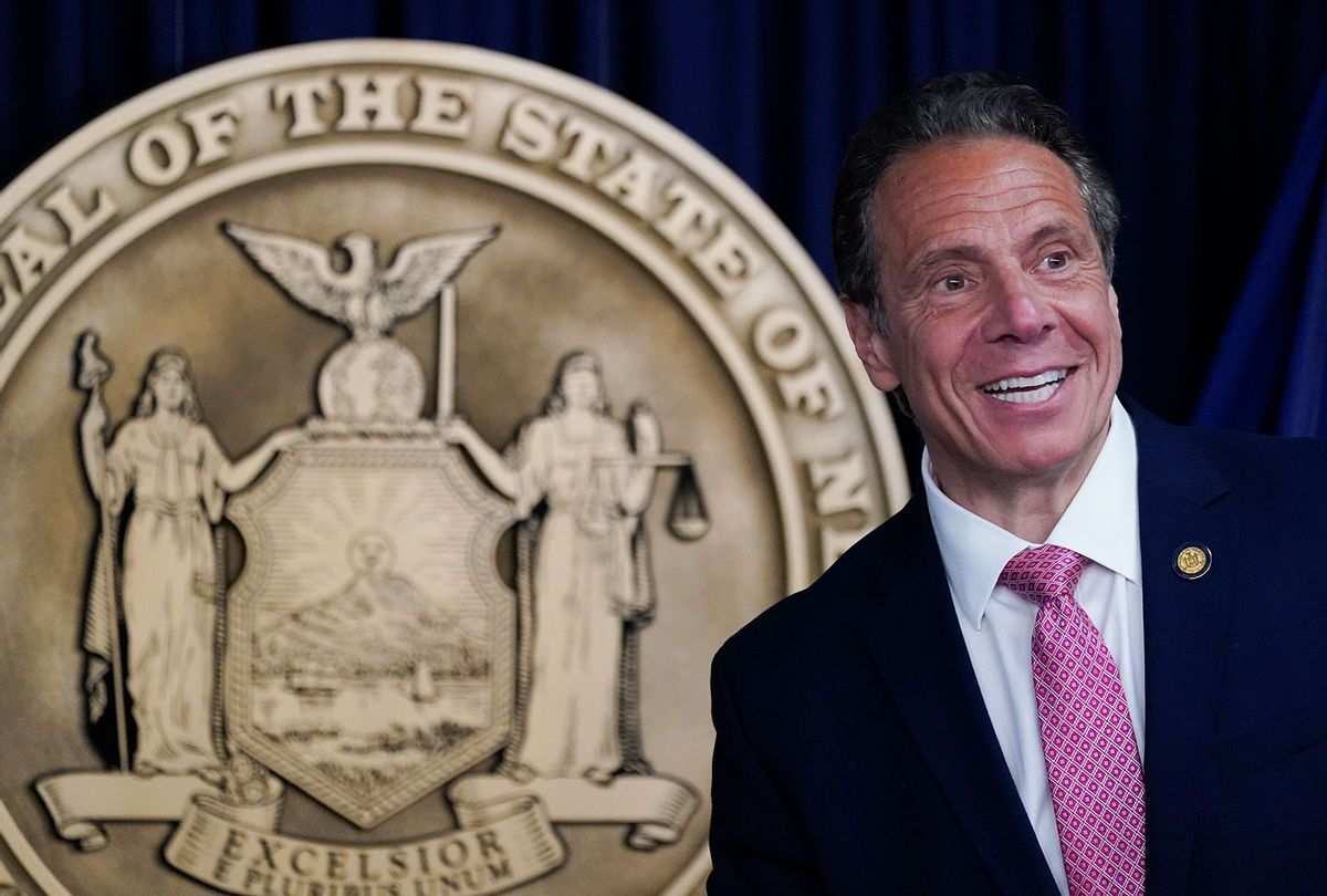 New York Gov. Andrew Cuomo speaks during a news conference on May 10, 2021 in New York City. (Mary Altaffer-Pool/Getty Images)