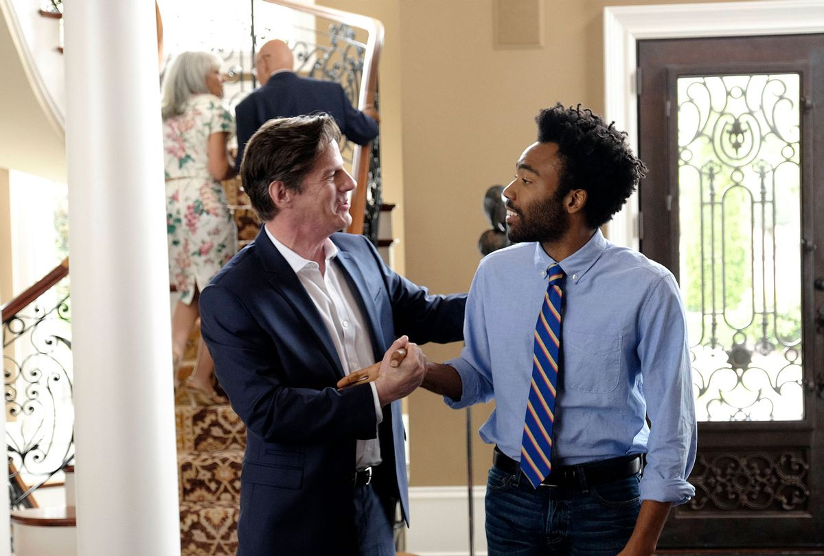 "Rick Holmes as Craig Allen, Donald Glover as Earnest Marks in ""Atlanta"" (Guy D'Alema/FX)"