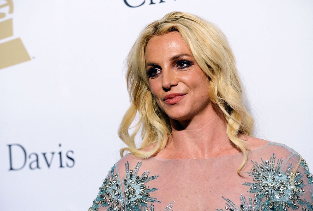 Singer Britney Spears walks the red carpet at the 2017 Pre-GRAMMY Gala And Salute to Industry Icons Honoring Debra Lee at The Beverly Hilton Hotel on February 11, 2017 in Beverly Hills, California. (Scott Dudelson/Getty Images)