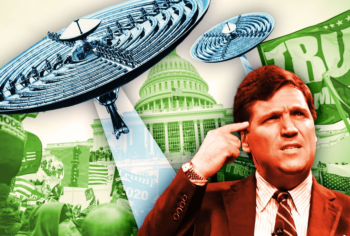 Tucker Carlson, the Capitol Riot and UFOs (Photo illustration by Salon/Getty Images)