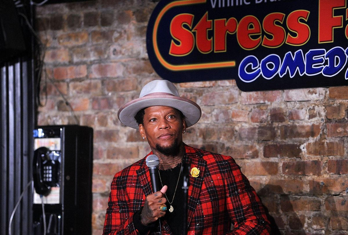 D.L. Hughley performs at The Stress Factory Comedy Club on February 6, 2020 in New Brunswick, New Jersey. (Bobby Bank/Getty Images)