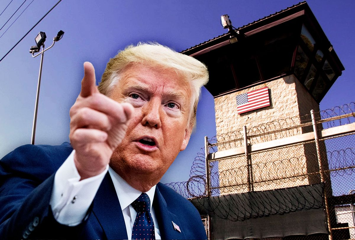 Donald Trump | Guard tower outside the fencing of Camp 5 at the US Military's Prison in Guantanamo Bay, Cuba (Photo illustration by Salon/Getty Images)