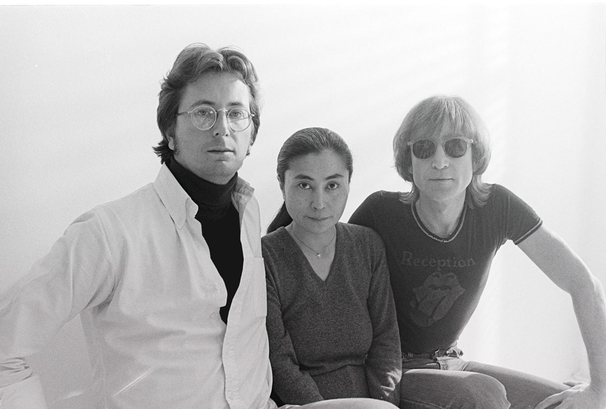 Ethan Russell, pictured with Yoko Ono and John Lennon (Photo courtesy of Ethan Russell)