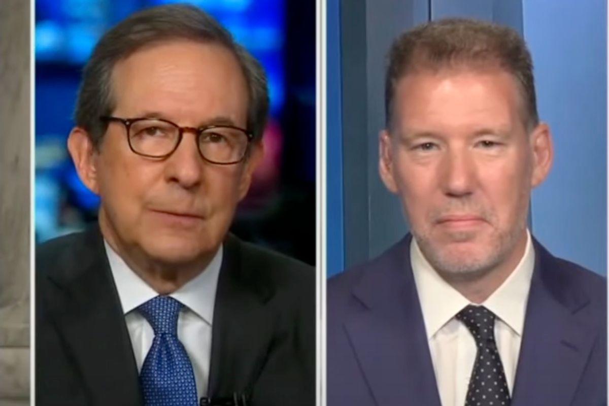 Host Chris Wallace speaks with former RNC Communications Director Doug Heye on Fox News Sunday. (FOX News)